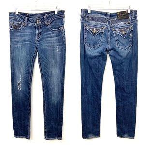 Miss Me Distressed Embellished Skinny Jeans 31x34